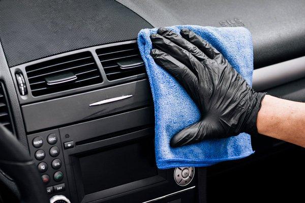 interior glovebox dashboard cleaning