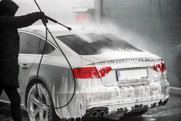 exterior car detailing pressure hose