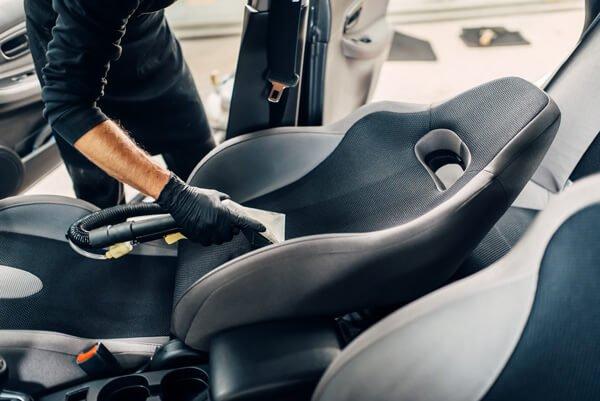 sports car set interior steam clean